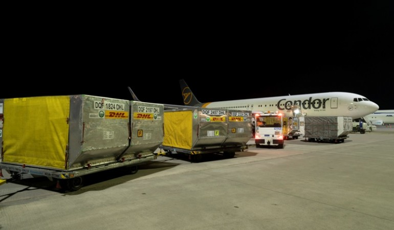 Hãng hàng không giải trí Condor khai thác các chuyến bay chở hàng PAX cho DHL
